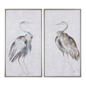 Summer Birds Framed Art, Set of Two