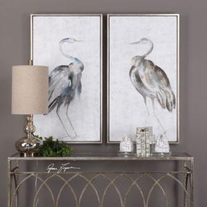 Summer Birds Framed Art, Set of Two