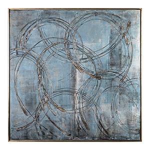 Interlock Blue Modern Art