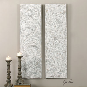 Frost On The Window by Jim Parsons: 20 x 71-Inch Wall Art, Set of Two