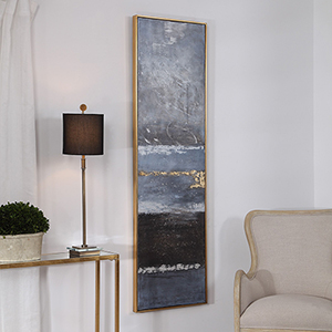 Winter Sea Scape Abstract Wall Art