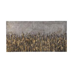 Golden Fields Metallic Wall Art