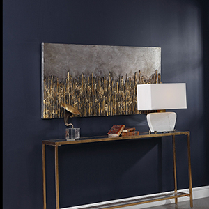 Golden Fields Metallic Wall Art