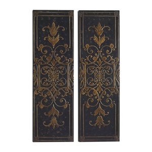 Melani Black Decorative Panels, Set of 2