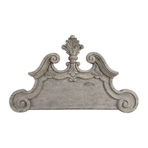Raimondo Light Ivory Gray Wash Wall Plaque