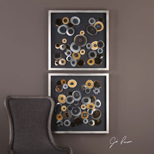Discs Wall Art Squares, Set of Two