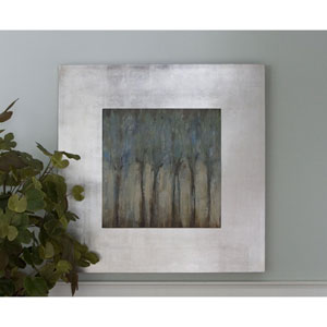 Windblown Champagne and Silver 46.75-Inch Modern Art