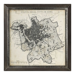 City Plan of Rome Print Map