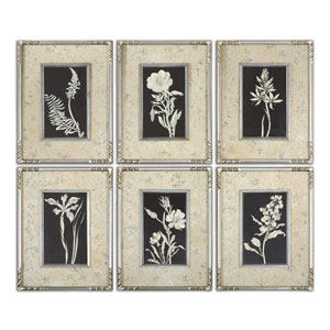 Glowing Florals by Grace Feyock: 13.62 x 17.62 Framed Art, Set of 6