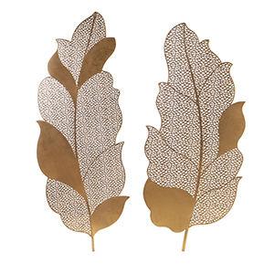 Autumn Lace Gold Wall Art, Set of 2