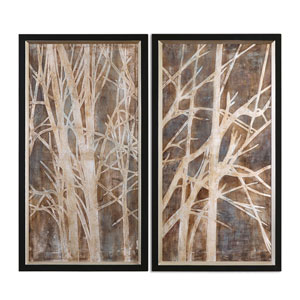 Twigs by Grace Feyock: 23 x 43-Inch Hand Painted Art, Set of Two