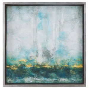 Aqua Blue by Grace Feyock: 37 x 37-Inch Wall Art