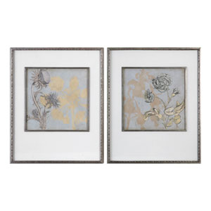 Shadow Florals Prints, Set of 2