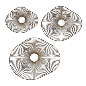 Avarie Gold Metal Wall Art, Set of Three