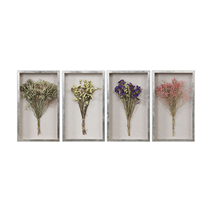 Summer Bouquets Shadow Box, Set of Four