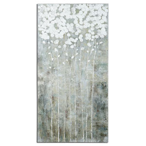 Cotton Florals Hand-Painted 55-Inch Landscape Decorative Art