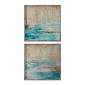 Through The Mist by Grace Feyock: 20 x 20-Inch Wall Art, Set of Two