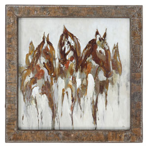 Equestrian In Browns and Golds by Grace Feyock: 36 x 36-Inch Wall Art