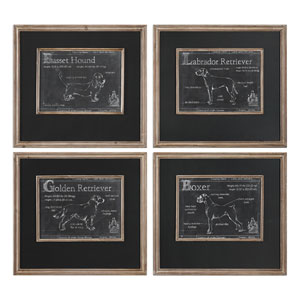 Canis Lupus Familiaris Prints, Set of Four