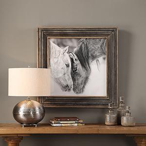 Custom Black And White Horse Print