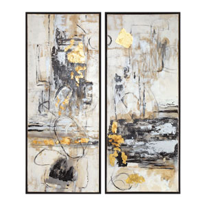 Life Scenes Abstract Art, Set of Two