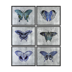 Vibrant Butterflies Prints, Set of 6