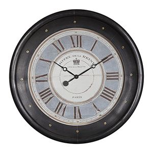 Jayden Oxidized Bronze and Antique Gold Wall Clock