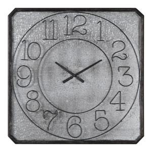 Dominic Galvanized Metal Wall Clock