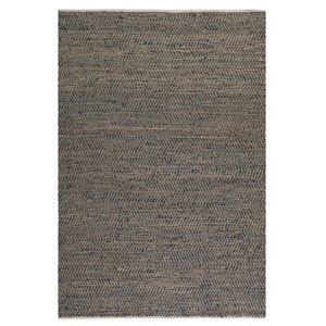 Tobais Brown Leather And Hemp Rectangular:  5 X 8 Ft. Rug