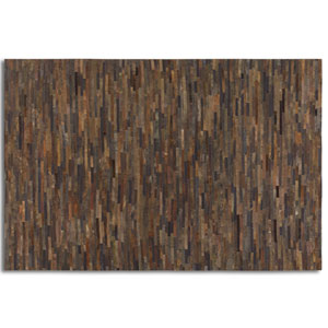 Malone Rescued Rust Brown 5 Ft. x 8 Ft. Patchwork Rug