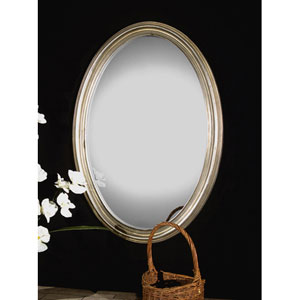 Franklin Silver Oval Mirror