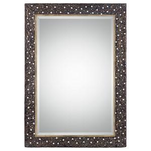 Khalil Distressed Dark Rustic Bronze Mirror