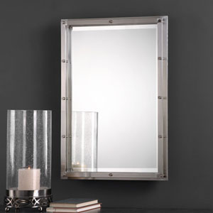 Manning Nickel Brushed Nickel Mirror