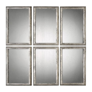 Alcona Antiqued Silver Mirrors, Set of 3