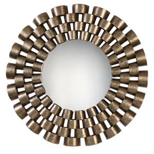 Taurion Silver Leaf Round Mirror