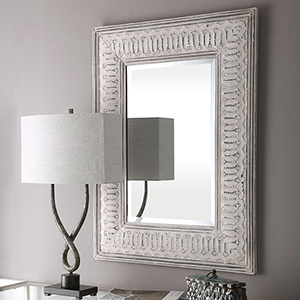 Argenton Aged Gray Rectangle Mirror