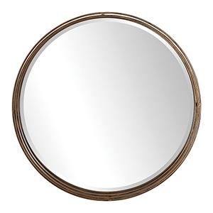Cannon Round Gold Mirror