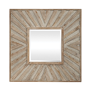 Gideon Wood and Ivory Square Mirror
