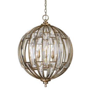 Catalina Burnished Silver Six-Light Sphere Pendant