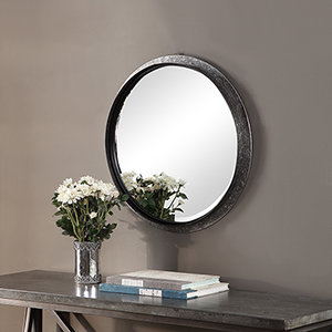 River Station Galvanized Metal Mirror