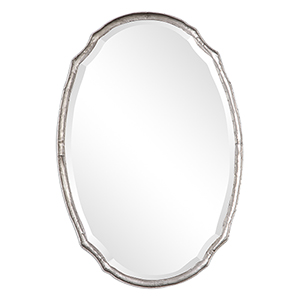 Afton Silver Oval Mirror