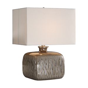 Evelyn Taupe Gray One-Light Table Lamp