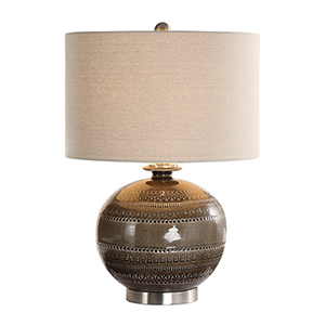 Wellington Taupe Gray One-Light Table Lamp