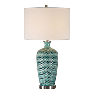 Grace Teal One-Light Table Lamp