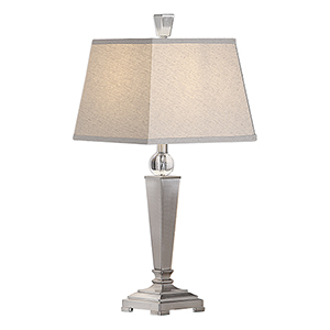 Evelyn Brushed Nickel One-Light Table Lamp