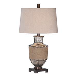 Afton Rope and Bronze One-Light Table Lamp