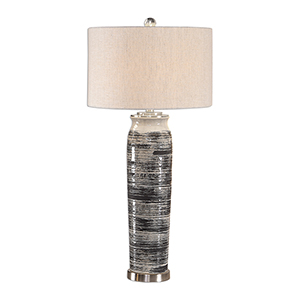 Selby Gray and Cream One-Light Table Lamp