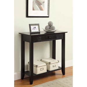 American Heritage Black Hall Table