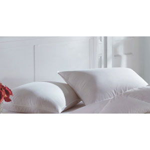 Cascada Peak White 600+ Firm Queen Down Pillow