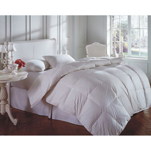 Cascada Peak White Summer 600+ Oversized Queen Down Comforter